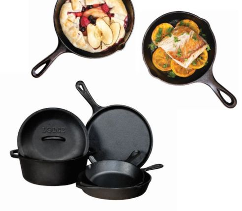 17. Lodge Cast Iron Cookware