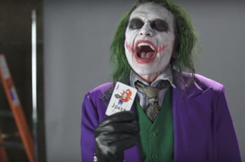 Tommy Wiseau auditions as The Joker @2x