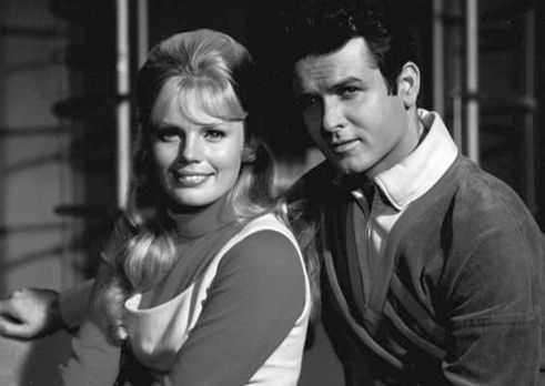 Judy Robinson and Major Don West in the original 'Lost In Space' television series.jpg