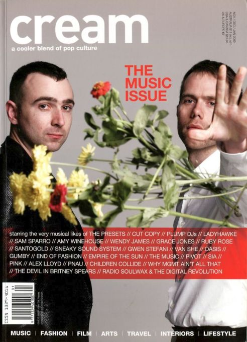 The Presets Splendour cream magazine @2x