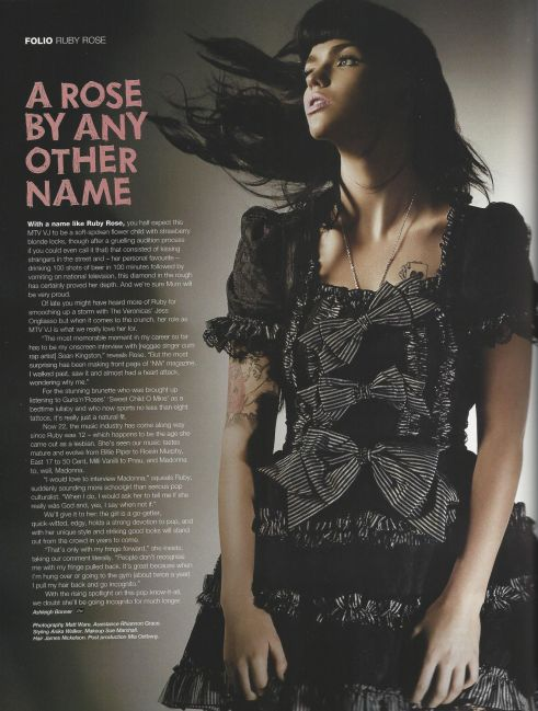 Ruby Rose Cream Magazine @2x