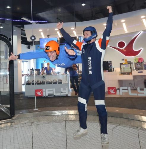 all smiles and thumbs aloft - ifly vr