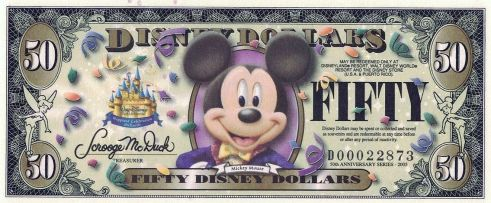 Disney Dollars cream magazine @2x